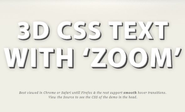 3D CSS Shadow Text Tutorial