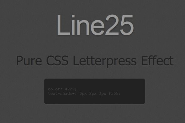 Letterpress Effect with CSS Text-Shadow