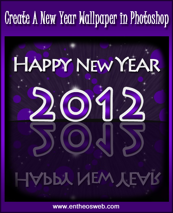 a gorgeous new year 2012 wallpaper in photoshop