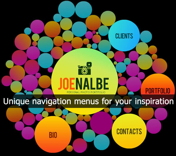 Unique navigation menus for your inspiration