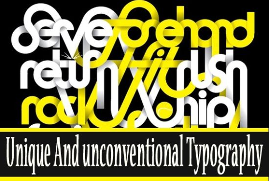 20 Examples of Unique and Unconventional Typography