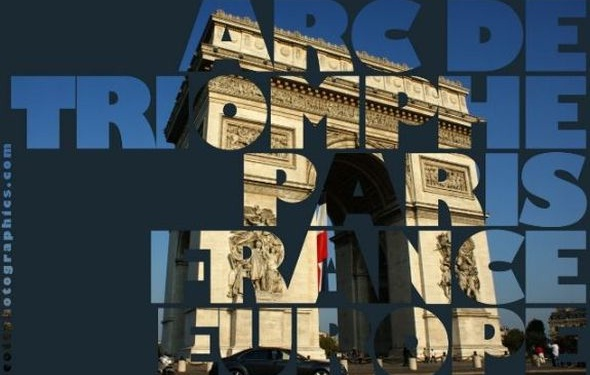 How to make a see-through to image text effect in Photoshop