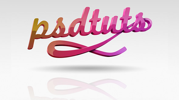 Create Super Glossy 3D Typography in Illustrator and Photoshop