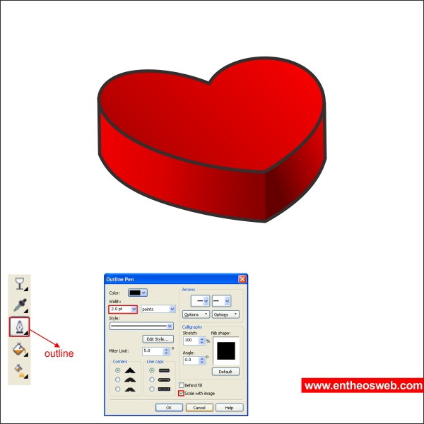 Create a Heart Chocolate Box with CorelDraw | EntheosWeb