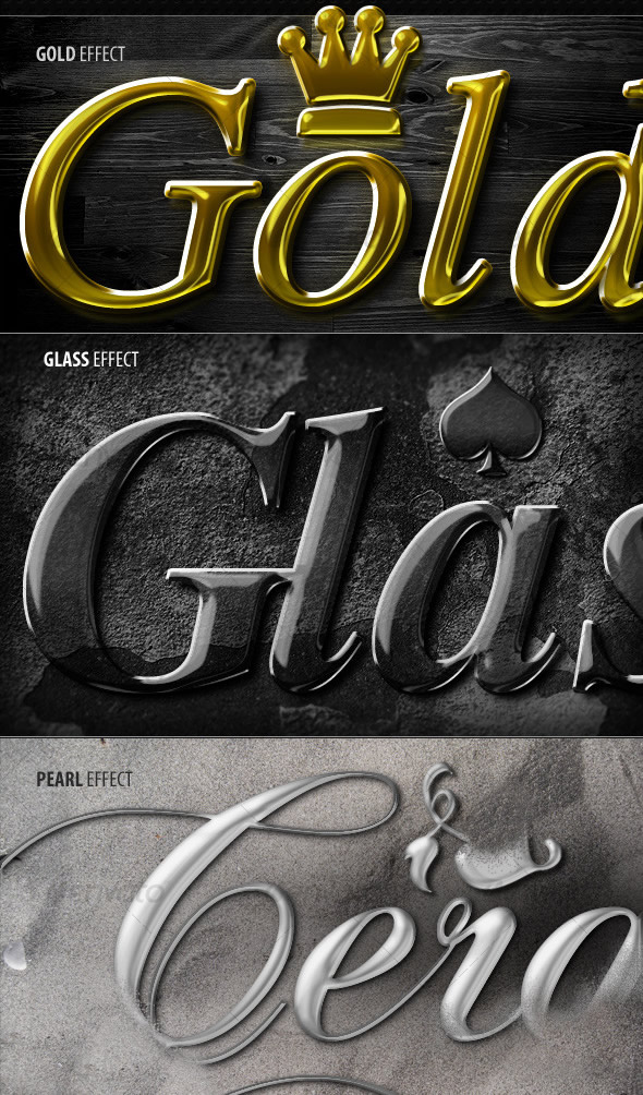 5 Awesome Text effects & Layer Styles