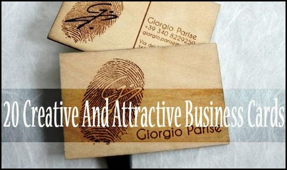 Creative and Attractive Business Cards