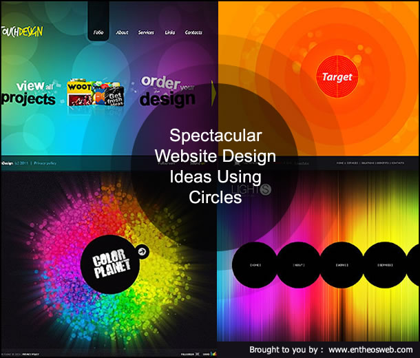Spectacular Website Design Ideas Using Circles | EntheosWeb