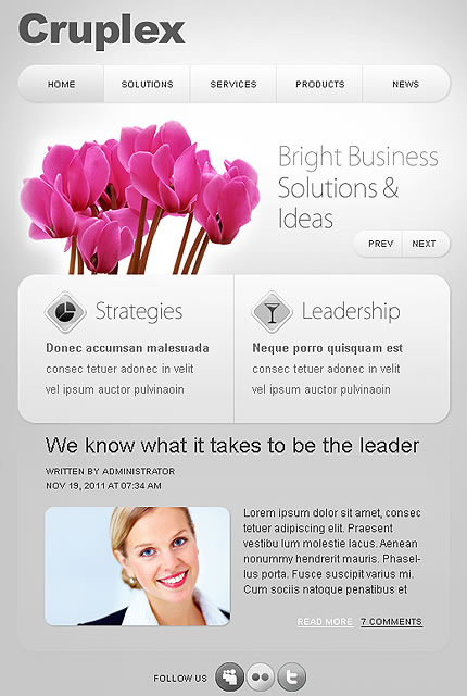 Cruplex Business Facebook Template