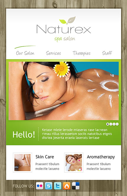 Naturex Spa Facebook Template