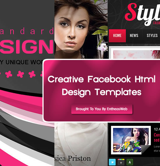 Creative Facebook Html Design Templates | Entheos