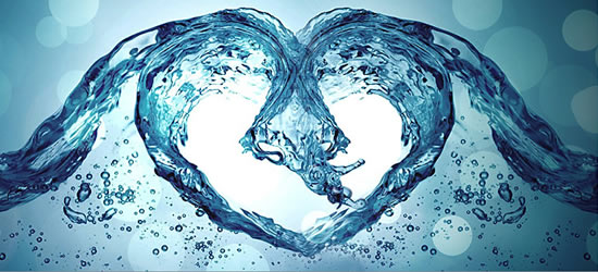 Water Heart Facebook Cover
