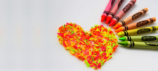 Crayon Heart Profile Facebook Covers