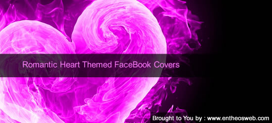 Romantic FaceBook Covers - Heart Designs