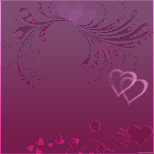Purple background with Hearts