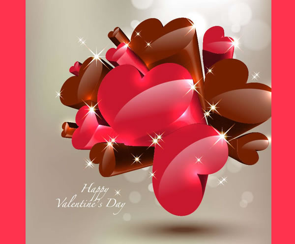 Free Heart Vectors Creative Valentine S Day Graphics Backgrounds