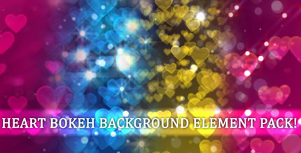 Heart Bokeh Background Element (Pack)