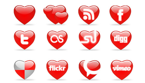 St.Valentine's day Icons