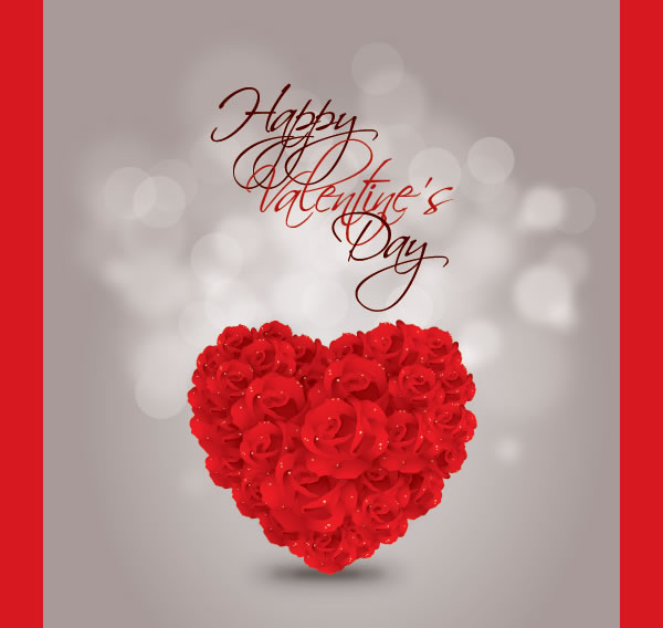 Heart of Roses Vector Graphic
