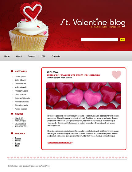 St. Valentine WordPress Theme