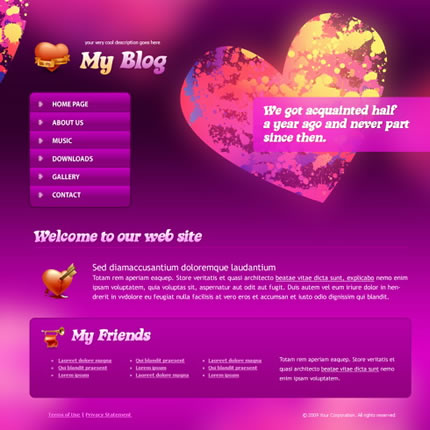 Heart Beat CSS Template