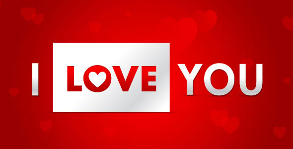 Valentine's Day I Love You 3D Greeting Card