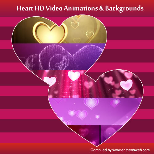 Moving Love Hearts Animated Hd heart video animations &