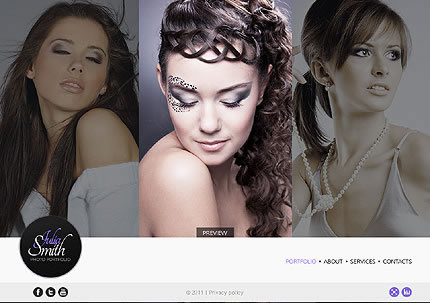 Julia Smith Flash Website Template
