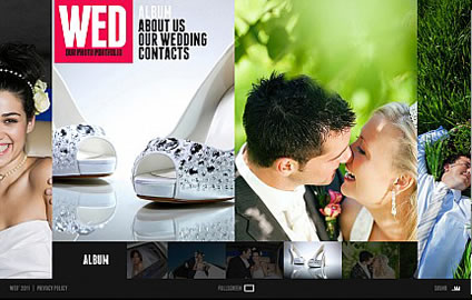 Wedding Photo Flash Photo Gallery Template