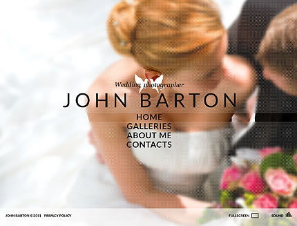 John Barton Flash Website Template