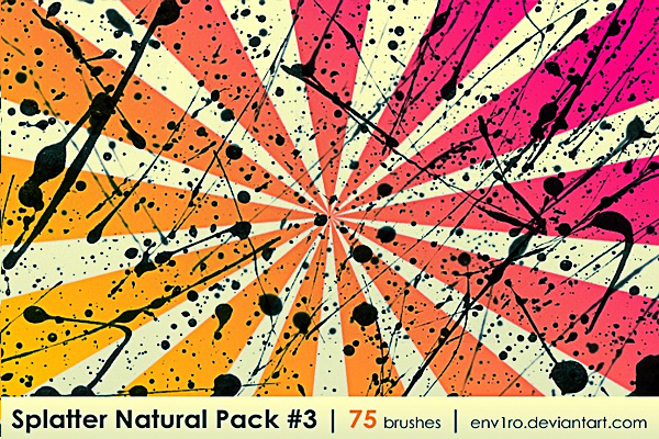 Splatter Natural Pack 3
