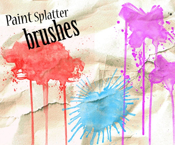 Paint Splat Photoshop Brushes by - kizistock