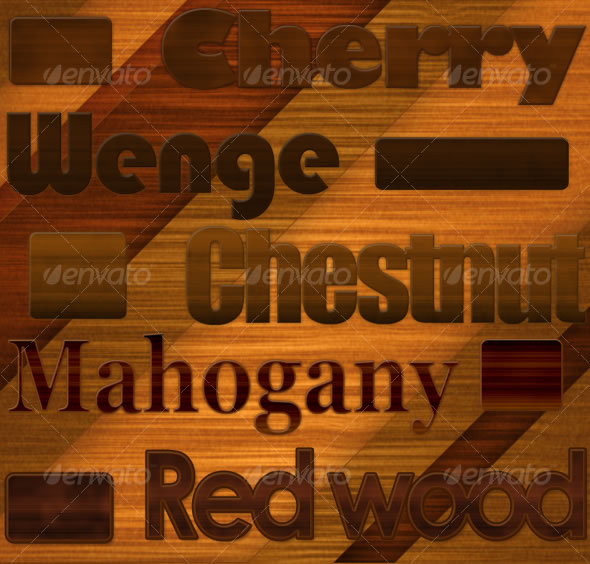 Realistic wooden text effect