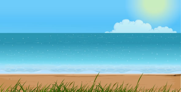Sea Shore Animated Background