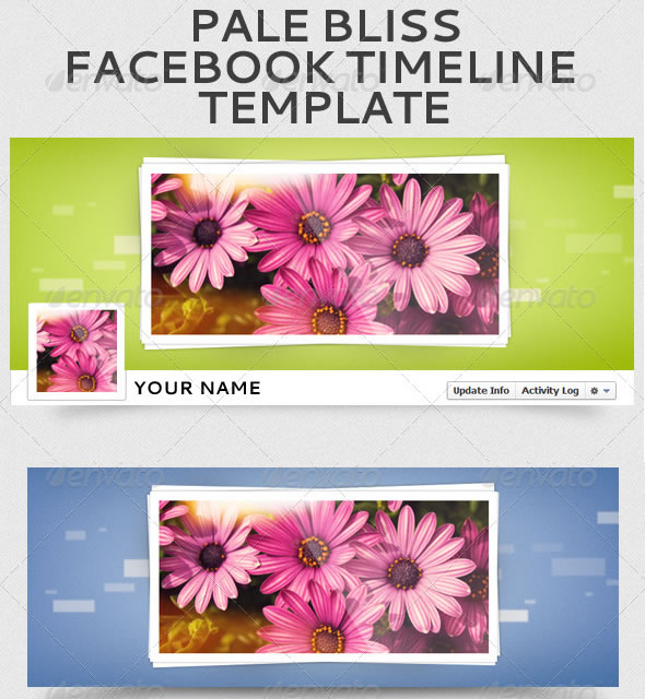 Pale Bliss Facebook Timeline Template