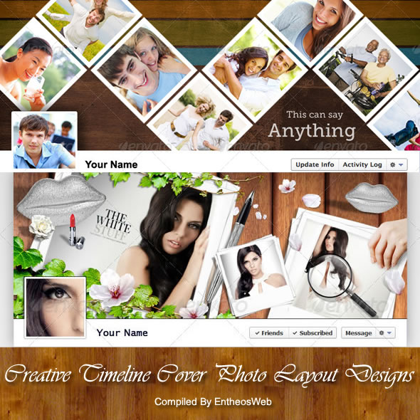 Creative Timeline Cover Photo Layout Designs