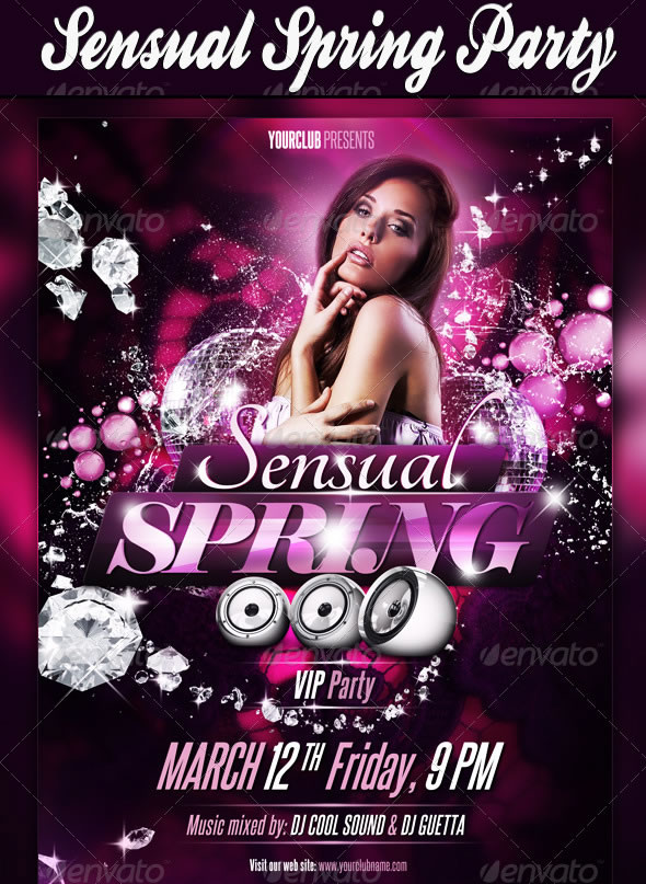 cool spring and summer break party flyer designs entheosweb