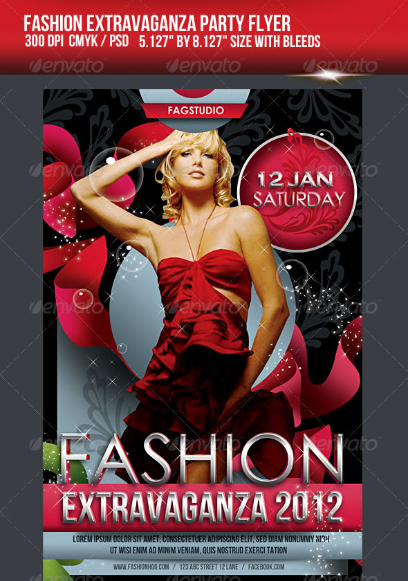 Fashion Extravaganza Party Flyer