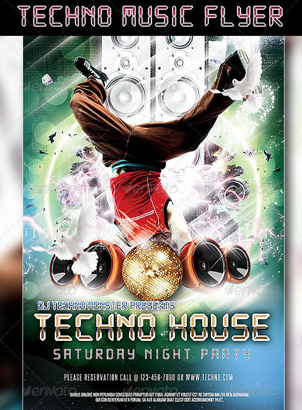 Techno Music Flyer