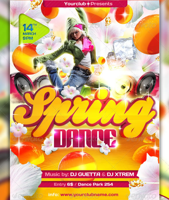 Cool Spring & Summer Break Party Flyers | Entheos