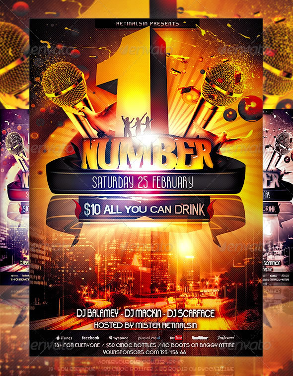 Mind Blowing Party Flyer Design Templates | Entheos