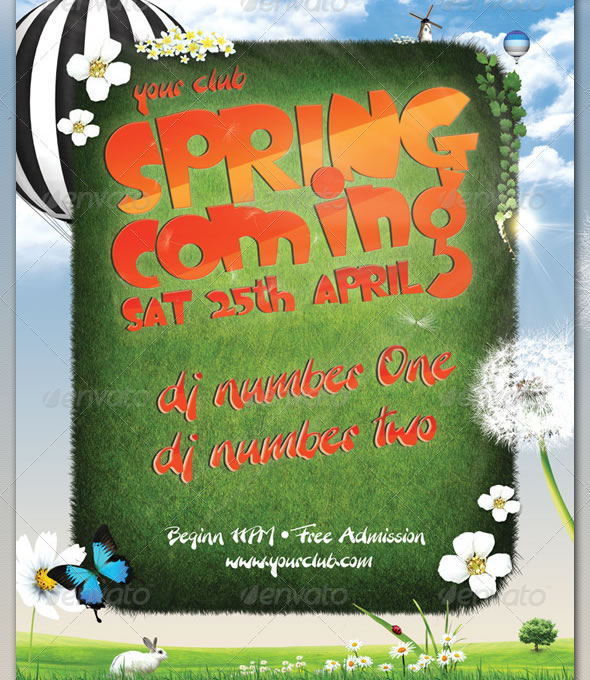 Spring Coming - Party Flyer