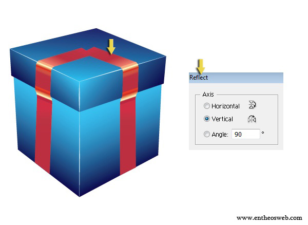 3D Gift Box Tutorial in Illustrator