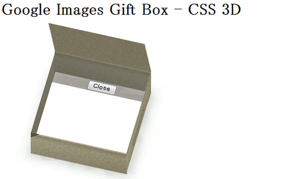 Google Images Gift Box - CSS 3D example