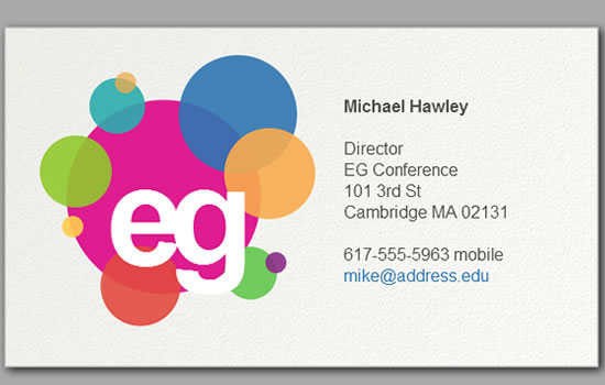 "HTML5 Canvas - ""Electronic Business Card"" experiment"