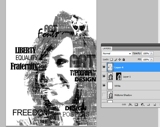 Typographic portrait in Photoshop