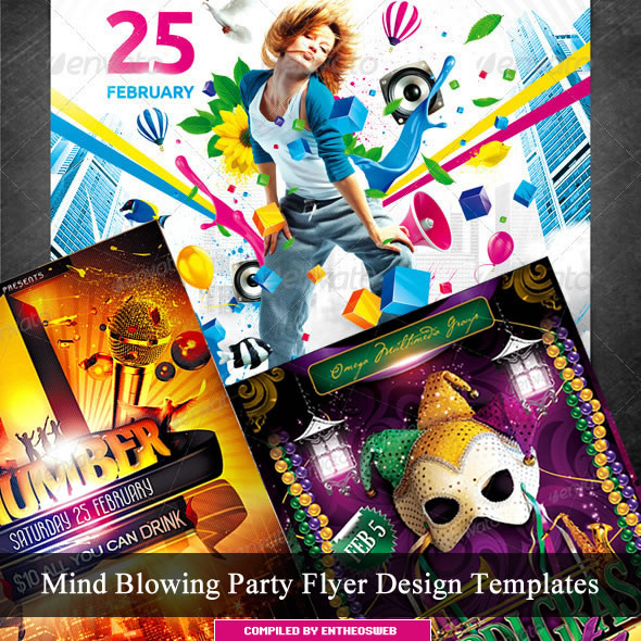 Mind Blowing Party Flyer Design Templates