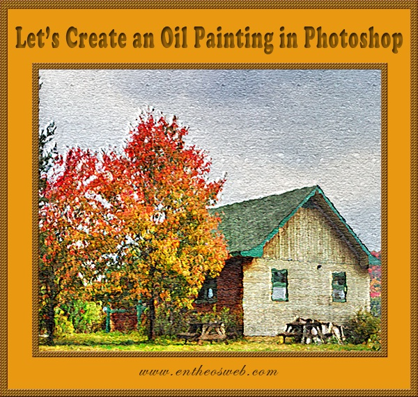 Oil painting effect in photoshop entheos for Pre printed canvas to paint for adults