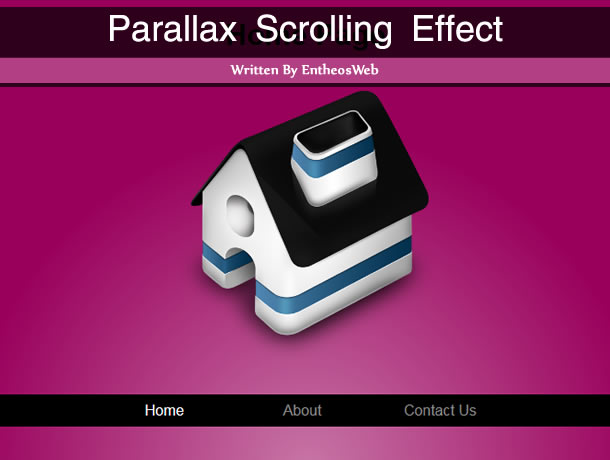 Parallax Scrolling Effect using CSS & jQuery