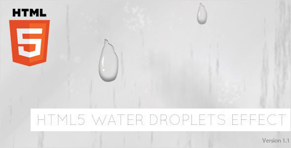 HTML5 Water Droplets Effect