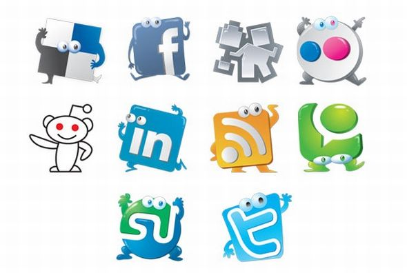 Jive social media icon set